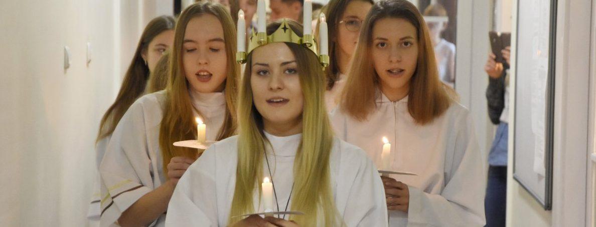 Orszak św. Łucji w magistracie